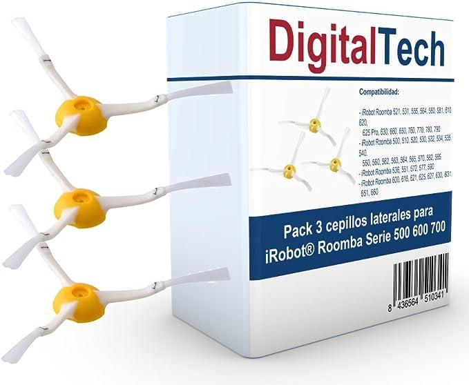 547 opinioni per DigitalTech- Set di 3 spazzole laterali compatibili, per Roomba Serie 500 600