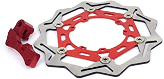 JFG RACING CNC Stainless Steel 270MM Front Floating Brake Disc Bracket Red Rotor Plate For For Honda CRF250R CRF450R CRF450X CR250R CR125R CRF250X SUPERMOTARD 125CC 250CC 450CC