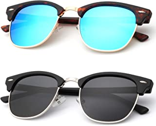 Polarized Sunglasses for Men and Women Semi-Rimless Frame...