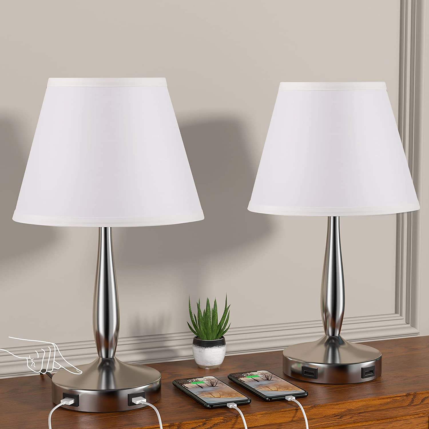 Touch Table Clearance Max 87% OFF SALE Limited time Lamps Set of 2 Dimmable DICOOOL Bedside 3-Way Lamp