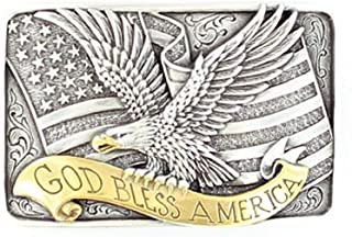 M&F Western Unisex God Bless America Buckle