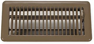 Rocky Mountain Goods Floor Register Vent - 4-Inch by 10-Inch - Easy adjust air supply lever - Premium finish - Heavy duty to allow walk on use (Brown)