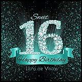 Happy Birthday Libro de Visitas: 16 años I Libro de Firmas Evento Fiesta Turquesa Negra I Encuaderna...