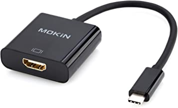 USB C to HDMI Adapter,MOKiN USB C(Type C) to HDMI Adapter Cable for MacBook Pro 2018/2017, iPad Pro/MacBook Air 2018, Samsung Galaxy S9/S8, Surface Go and More (Black)