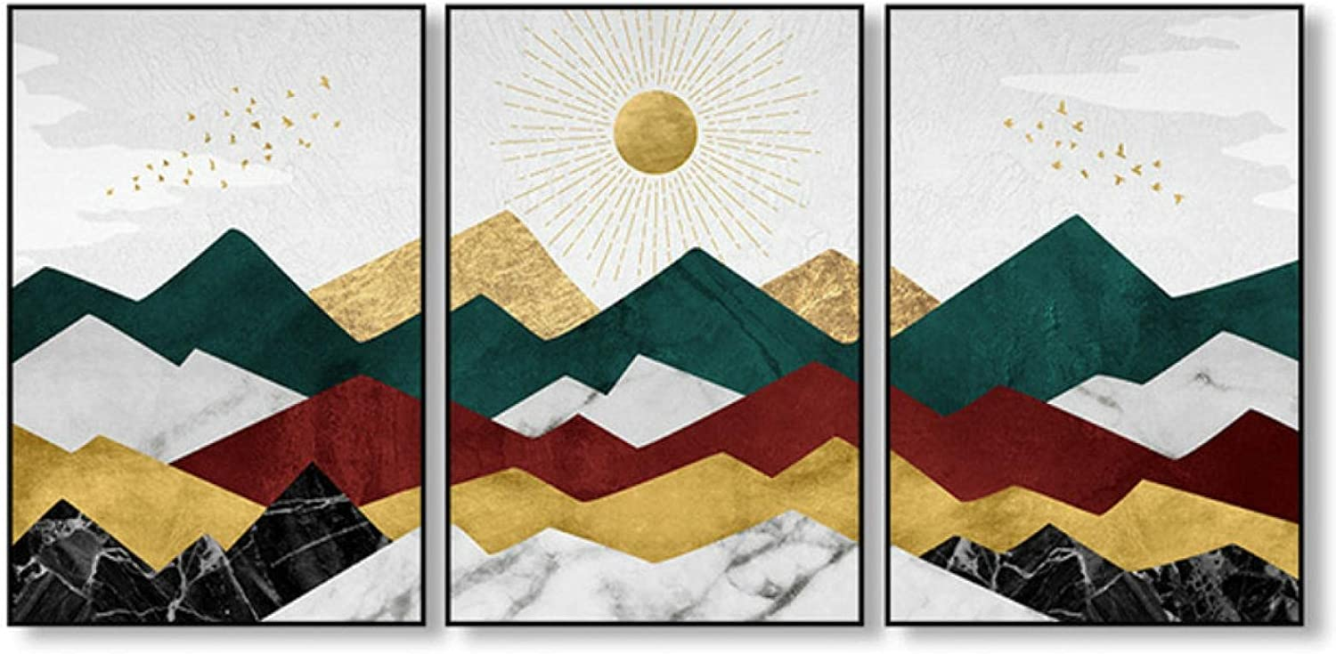 3 Panels Canvas Art Painting Sun Print Discount Max 47% OFF mail order Mountain Abstract Poster