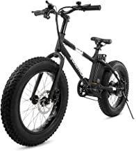 "Swagtron EB-6 Bandit E-Bike 350W Motor, Power Assist, 4"" Tires, 20"" Wheels, Removable 36V Lithium Ion Battery, Dual Disc Brakes– Electric Bike 7-Speed Shimano SIS Shifting Built for Trail Riding"