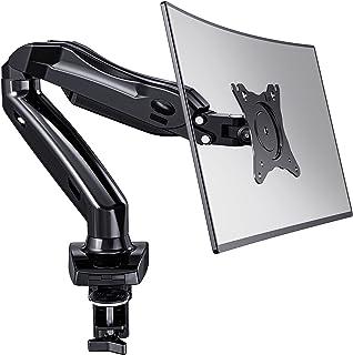 HUANUO Bras de Moniteur Seul pour Écrans LCD LED de 13-27'', Bras de Ressort à Gaz Rotatif à 360°, 2 Méthodes de Montage O...