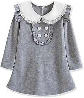 فستان VIYOO للفتيات من القطن 3-9 سنوات ملابس طويلة الأكمام للأطفال