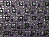 Minerva Crafts Geometrische Quadrate Gewebter