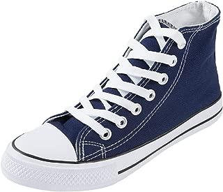 SUNJIN ARCO Women's Unisex Fashion Lace up Canvas Sneaker High Top Walking Shoes