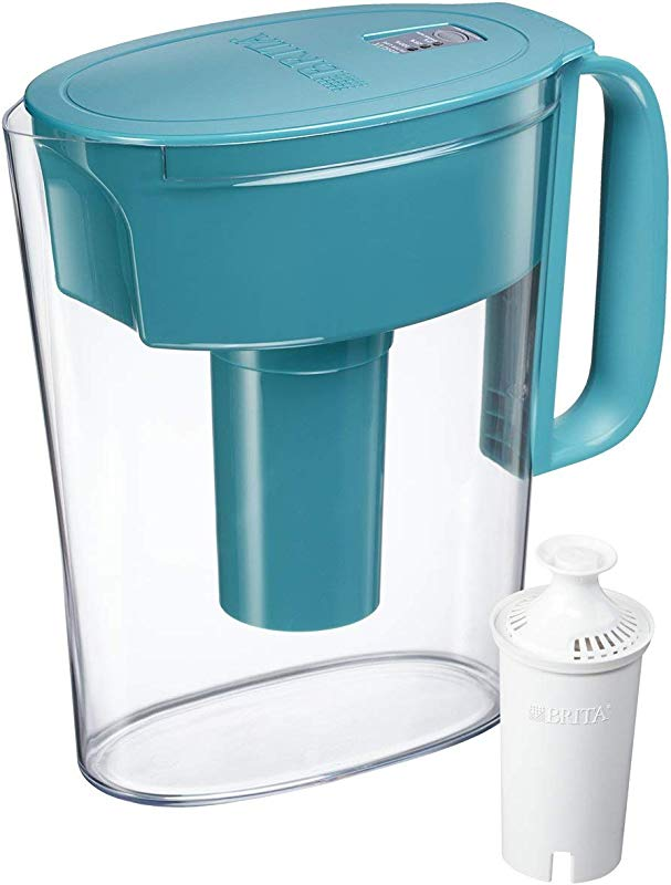 Brita Small 5 Cup Water Filter Pitcher With 1 Standard Filter BPA Free Metro Turquoise
