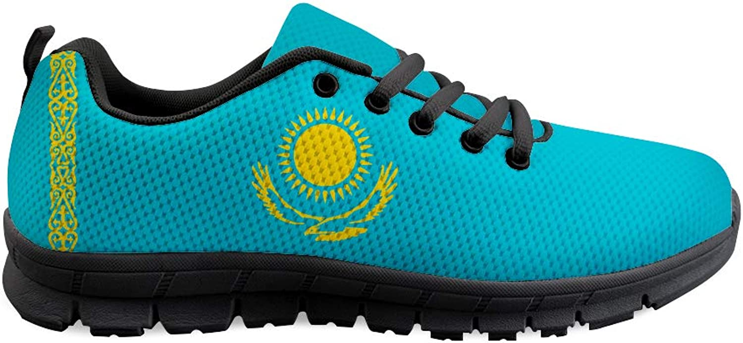 Owaheson Lace-up Sneaker Training shoes Mens Womens Kazakhstan Flag