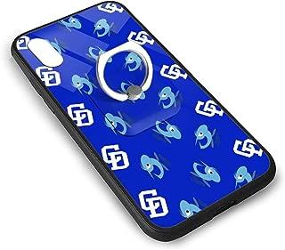 【iPhone X/XS】中日ドラゴンズ1 携帯ケース スマホケース スマホカバー 携帯カバー TPU+ガラスケース ブラケットリング付き 携帯保護 すり傷防止