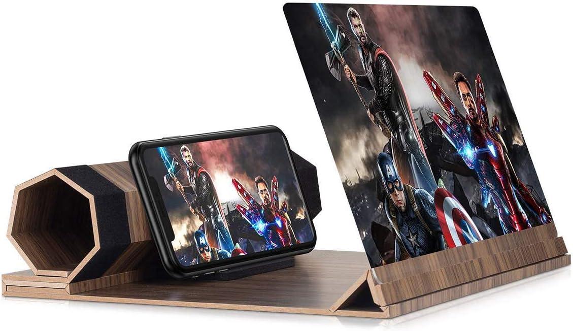 ampliador de pantalla 3d para celulares 12 pulgadas gris
