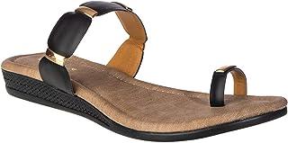 Khadim's Women Black Casual Slip-On Sandal-36033936061003