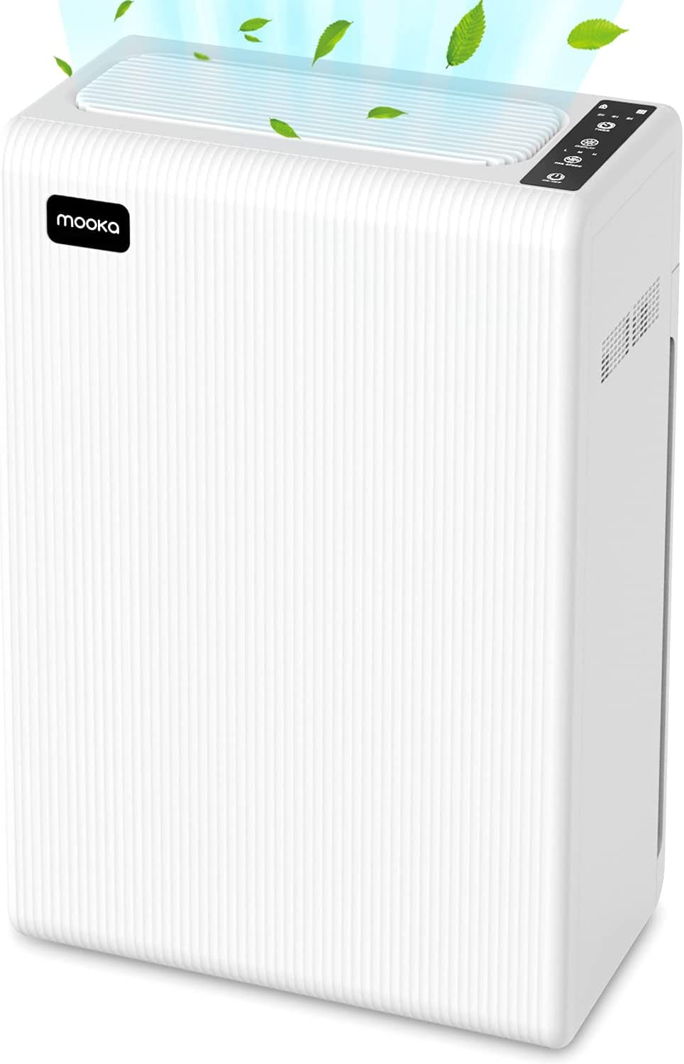 MOOKA Air Purifier for Home Large Room up to 969ft², H13 True HEPA Filter Cleaner for Allergies and Pets, Smokers, Pollen, Dust, Quiet Odor Eliminators for Bedroom, E-300L (White)