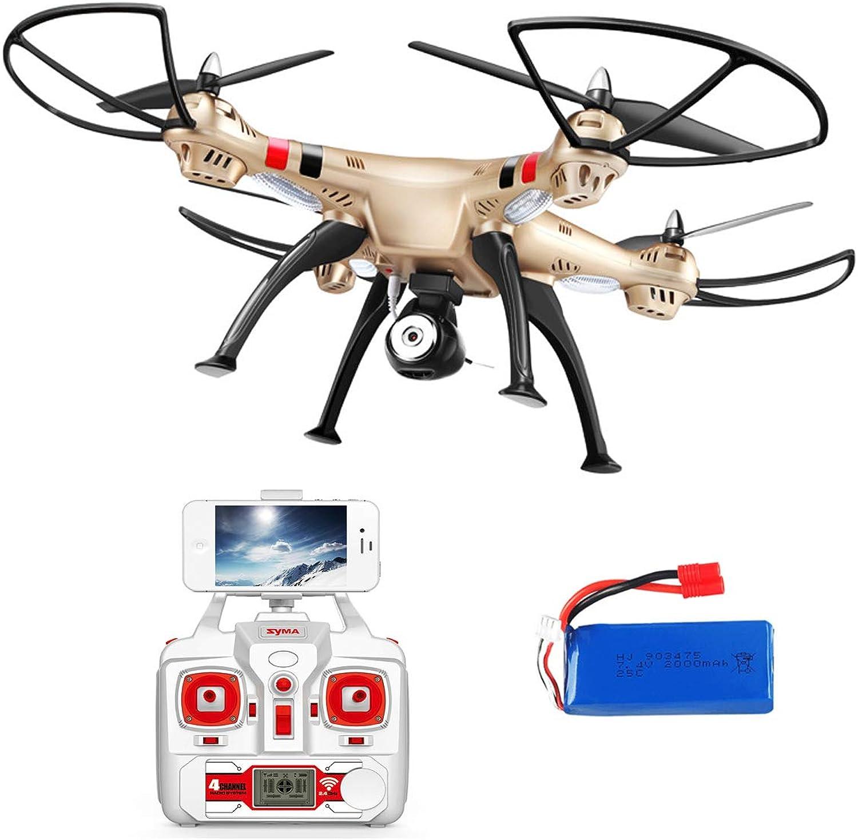 Esun Europe FPV Drohne mit HD Kamera live ubertragung Lange Flugzeit SYMA X8HW RC Quadcopter Ferngesteuert mit Hhenhaltung,Headless Modus,App Steuern für Anfnger und Kinder mit 2 Akkus