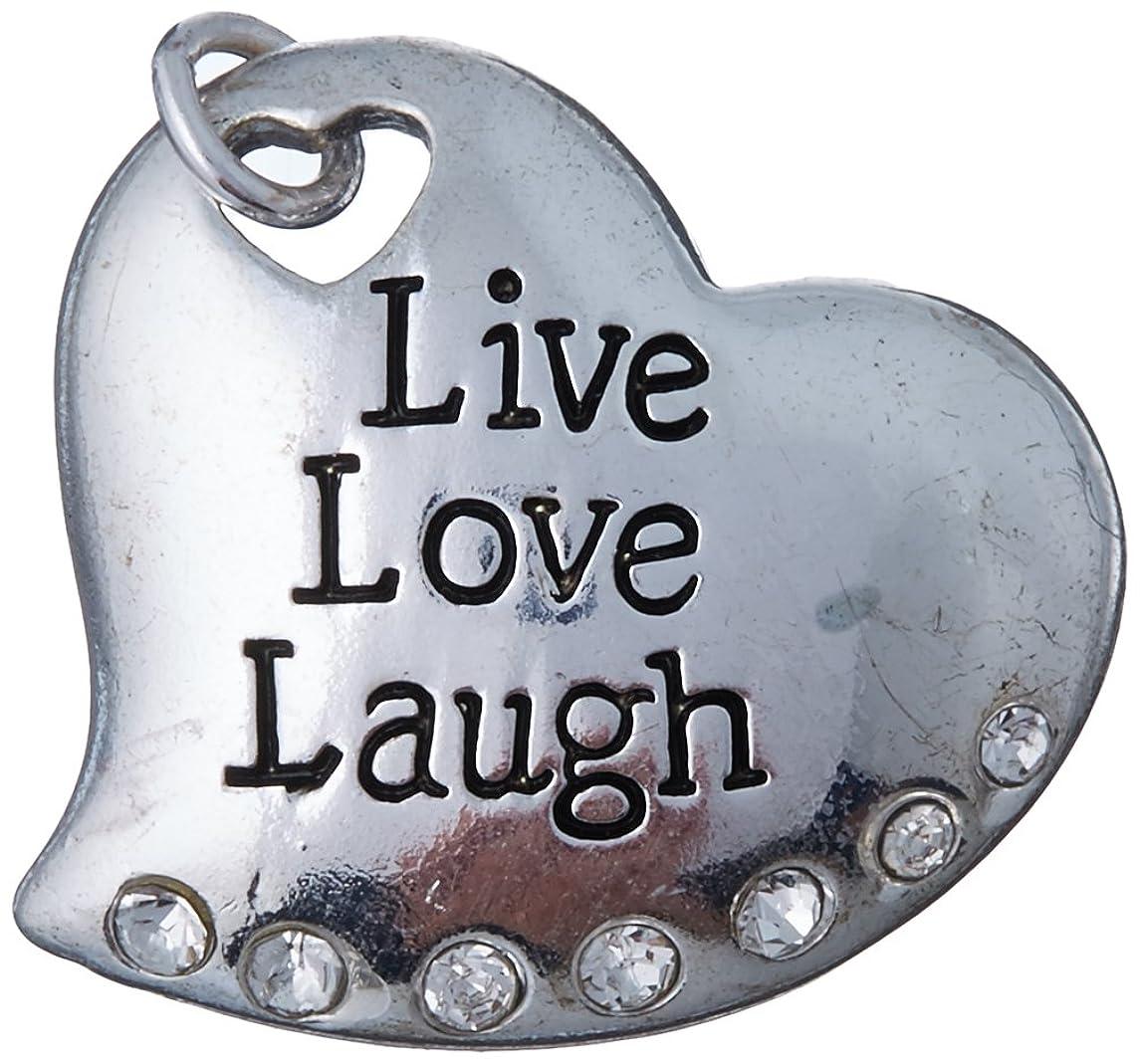 Jewelry Designer SJ14214PT Live Heart Charm Ant.Silver 20X18Mm 1Pc