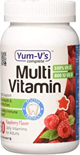 Yum-V's Complete Multivitamin and Multimineral for Adults Jellies, Raspberry, 60 Count