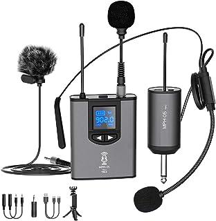 هدفون میکروفون بی سیم UHF میکروفون / میکروفن پایه / میکروفون لاپالی Lapel با فرستنده شارژ بدن