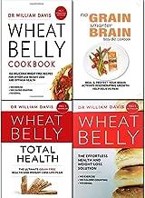 Wheat Belly Total Health [Hardcover],Grain Brain,No Grain, Smarter Brain Body Diet Cookbook 4 Books Collection Set