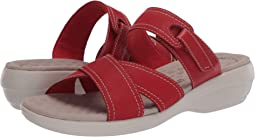 Red Nubuck/Leather Combi