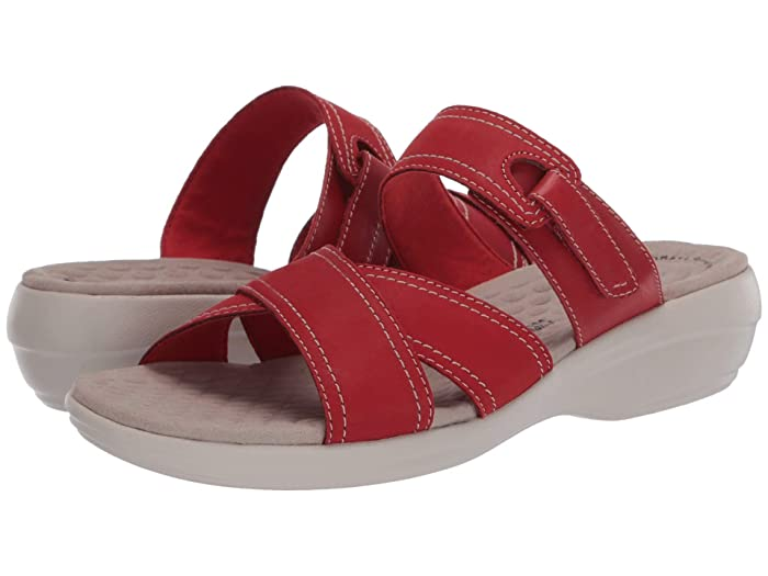 Clarks  Alexis Art (Red Nubuck/Leather Combi) Womens Shoes