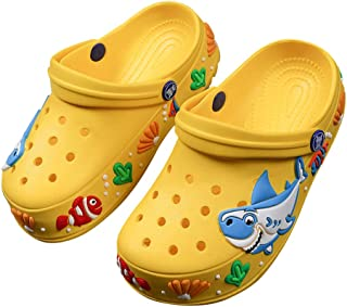 Hopscotch Boys and Girls EVA Printed Clogs in Yellow Color