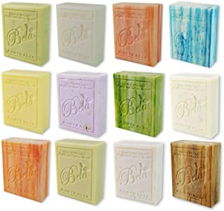 Bela Bath & Beauty, Assorted, Triple French Milled Moisturizing Soap Bars, No Harsh Ingredients, 3.5 oz each - 12 Pack
