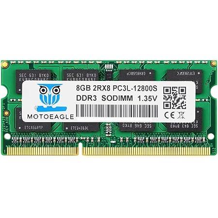 Motoeagle DDR3L 1600 MHz PC3L-12800 8GB SO-DIMM 1.35V (低電圧) 204Pin ノートPC用メモリ Mac 対応