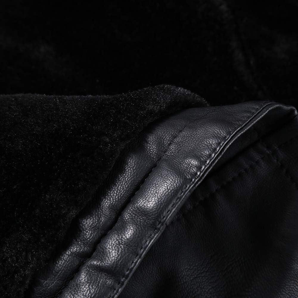 Bellivera Damen PU Kurze Jacke,Kurze Bickerjacke Moto Lederjacke für Herbst und Winterfür mit Abnehmbarer Kunstpelzkragen und Reißvershluss 01_9203yellow_short Ledergürtel