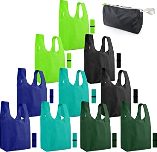 Reusable-Grocery-Bags-Shopping-Foldable-Tote Bags for Groceries 10 Pack Xlarge Bags with..