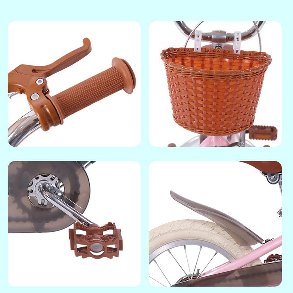 Size:14in Kids Bikes Chunlan Bicicleta Infantil 3-12 A/ños De Edad Bicicleta para Ni/ños Rosado Ni/ña Princesa 14 16 18 Pulgadas Estilo Retro Chico Asiento Transpirable Freno De Seguridad Ni/ñita