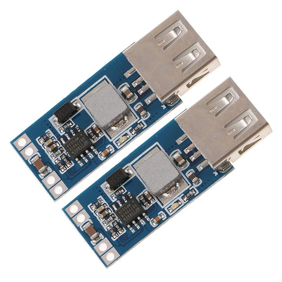 トランペット苦味矢車載USBパワーモジュール 降圧電源モジュール 3A DC-DC 9V/12V/24V to 5V 2個セット