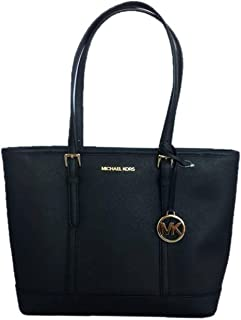 Jet Set Travel Saffiano Small Top Zip Shoulder Tote Bag