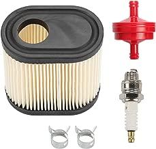 Venseri 36905 Air Filter with Fuel Shut Off Valve Spark Plug for Tecumseh 740083A LEV100 LEV115 LEV120 OVRM105 OVRM65 TVS115 TVS120 Toro Craftsman Lawn Mower