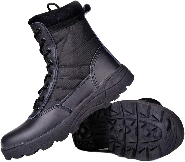Yujingc Herren Militrarmee aus Leder Kampf Gehen Wandern Nicht sicher Arbeiten Stiefeletten Delta Atmungsaktiv Streitkrfte Schuhe Gre 36-46