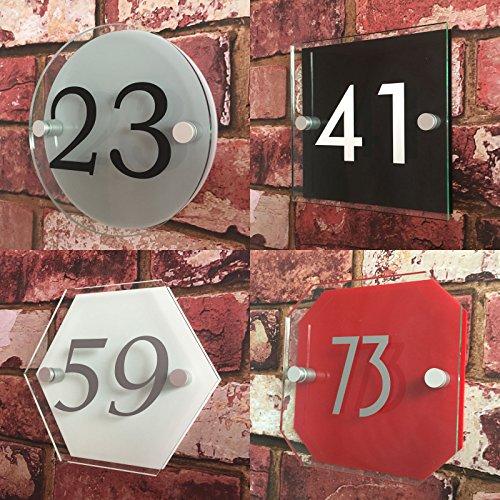 Numéro de maison personnalisé avec effet 3D ombre   Veuillez nous envoyer vos Objectifs, nous fabriquons Créer votre propre plaque Sonnette, inoxydable, traité anti-uv, résistant aux intempéries