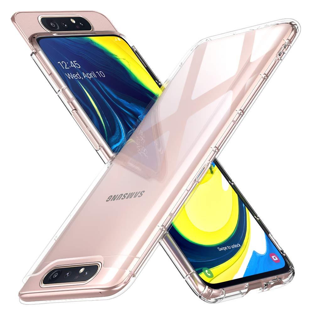 Peakally Funda Samsung Galaxy A80, Transparente Silicona Funda ...