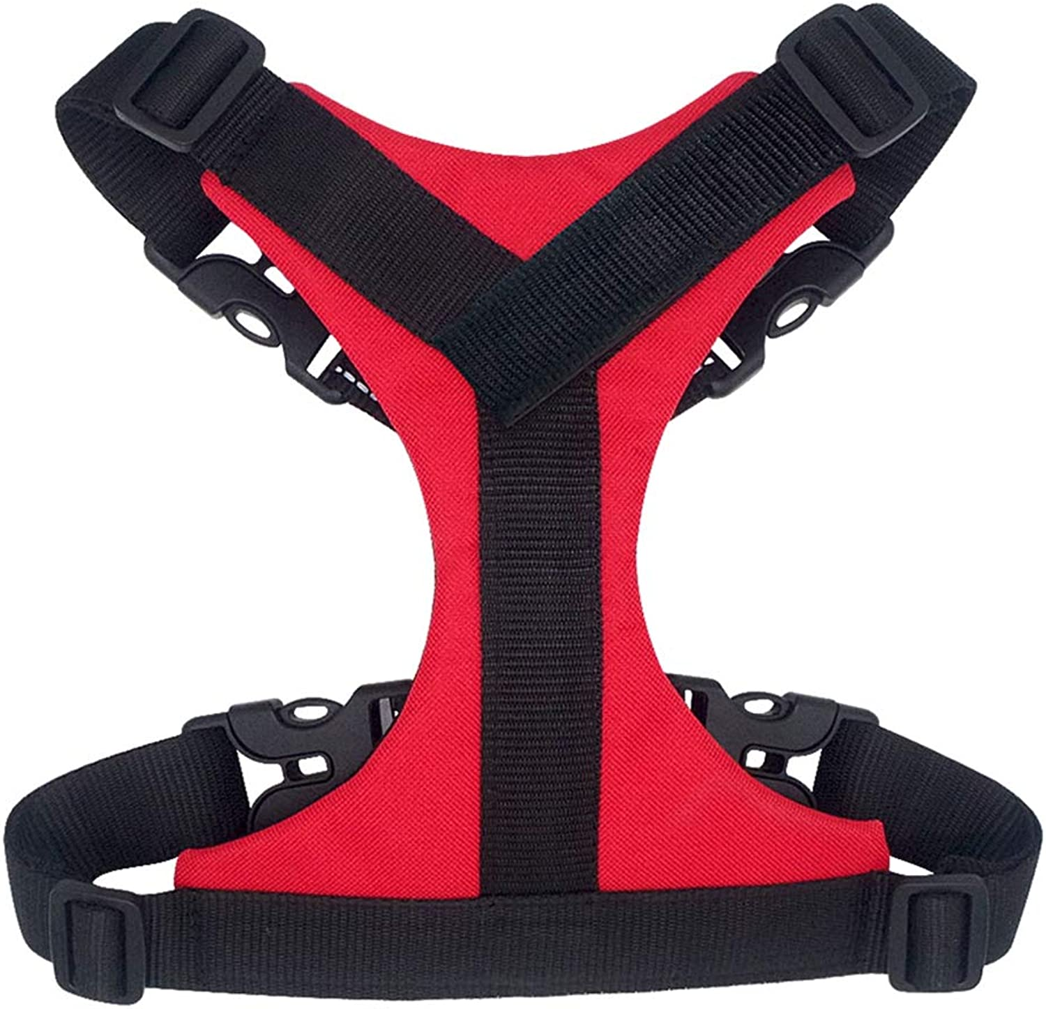 Dog Harness Durable Nylon Step in Reflective Breathable Mesh Harness Vest Small Medium Large Dogs Cat Pet Pitbull Red bluee