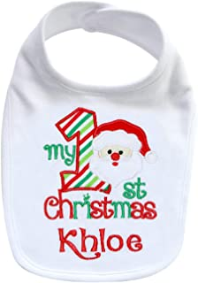 first christmas baby bib