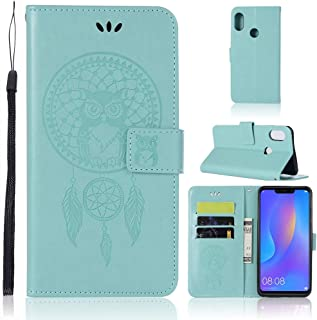 Wind Chime Owl Embossing Pattern Horizontal Leaf Leather Case With Holder & Card Slots & Wallet For Huawei Honor 8X Mobile...
