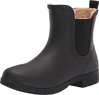 Chooka Women's Waterproof Plush Chelsea Bootie Rain Boot