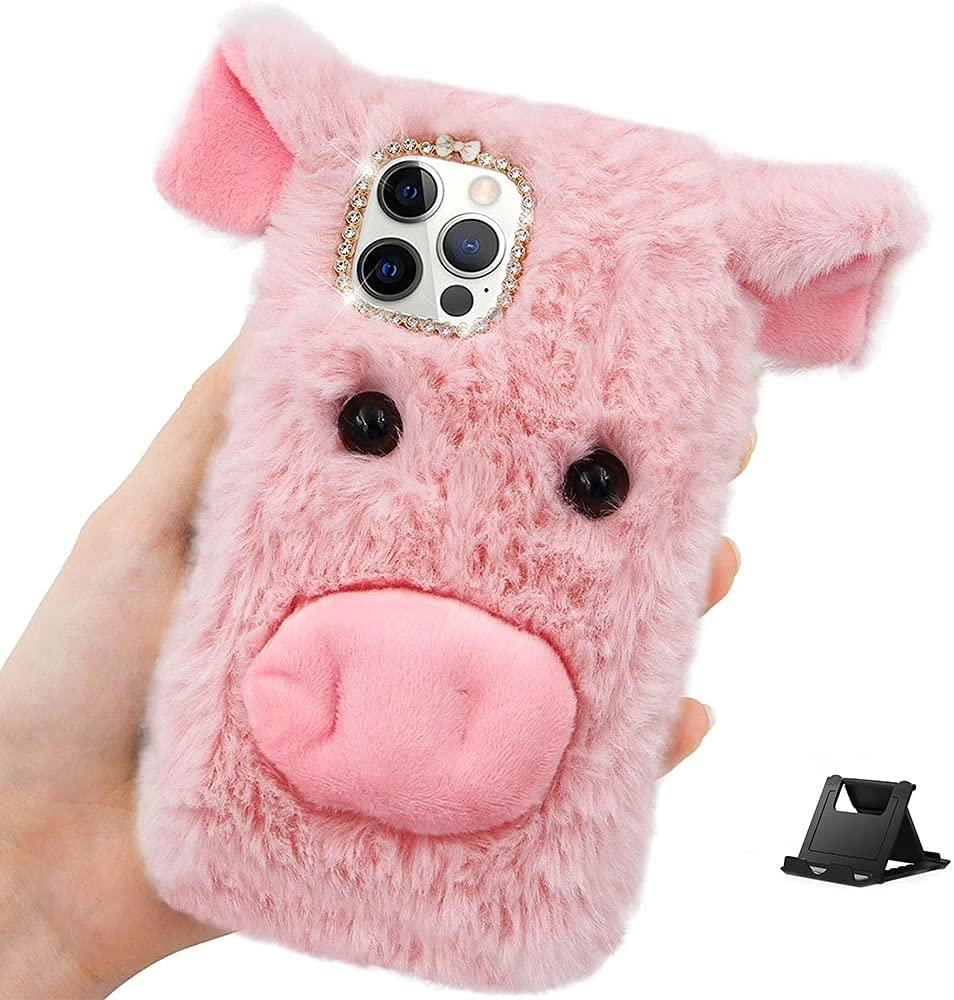 Shinyzone Compatible with LG Velvet Ranking TOP12 5G Fluffy Ear Case Plush El Paso Mall 3D