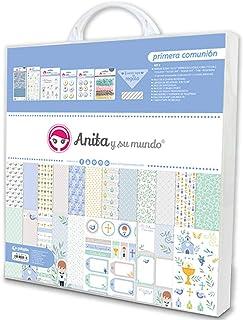 Anita y Su Mundo Première Communion Kit de scrapbooking, bleu, 30,5 x 30,5 cm, 8