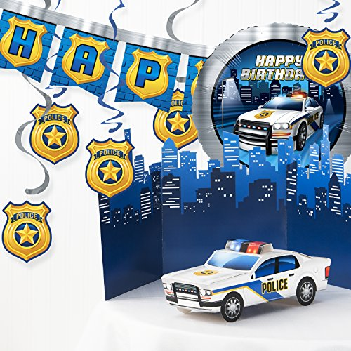 Creative Converting Police Birthday Party Decorations Kit