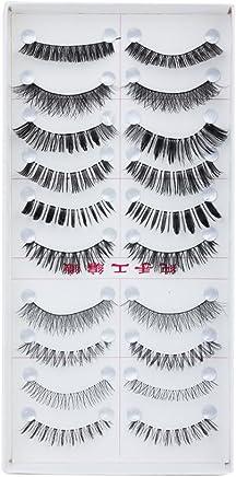 Generic 10 Pairs Mixed Styles False Eyelashes - Black