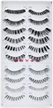 Generic 10 Pairs Mixed Styles False Eyelashes - Black