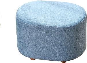 Yxsdd Low Stool Change Shoe Bench Sofa Stool Living Room Entrance Short Stool, 40cm * 30cm * 27cm (Color : Blue)