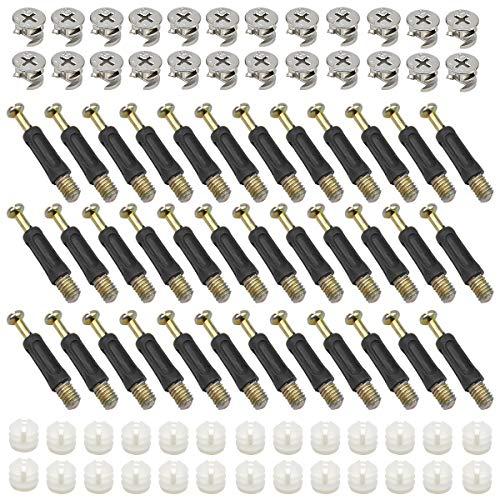 50 Stück Exzenter Möbelverbinder Möbelbeschlag 14,5 mm Außendurchmesser Pleuelschrauben Verbindungsbeschlag Möbelschrankverbinder für Möbel Tischschränken